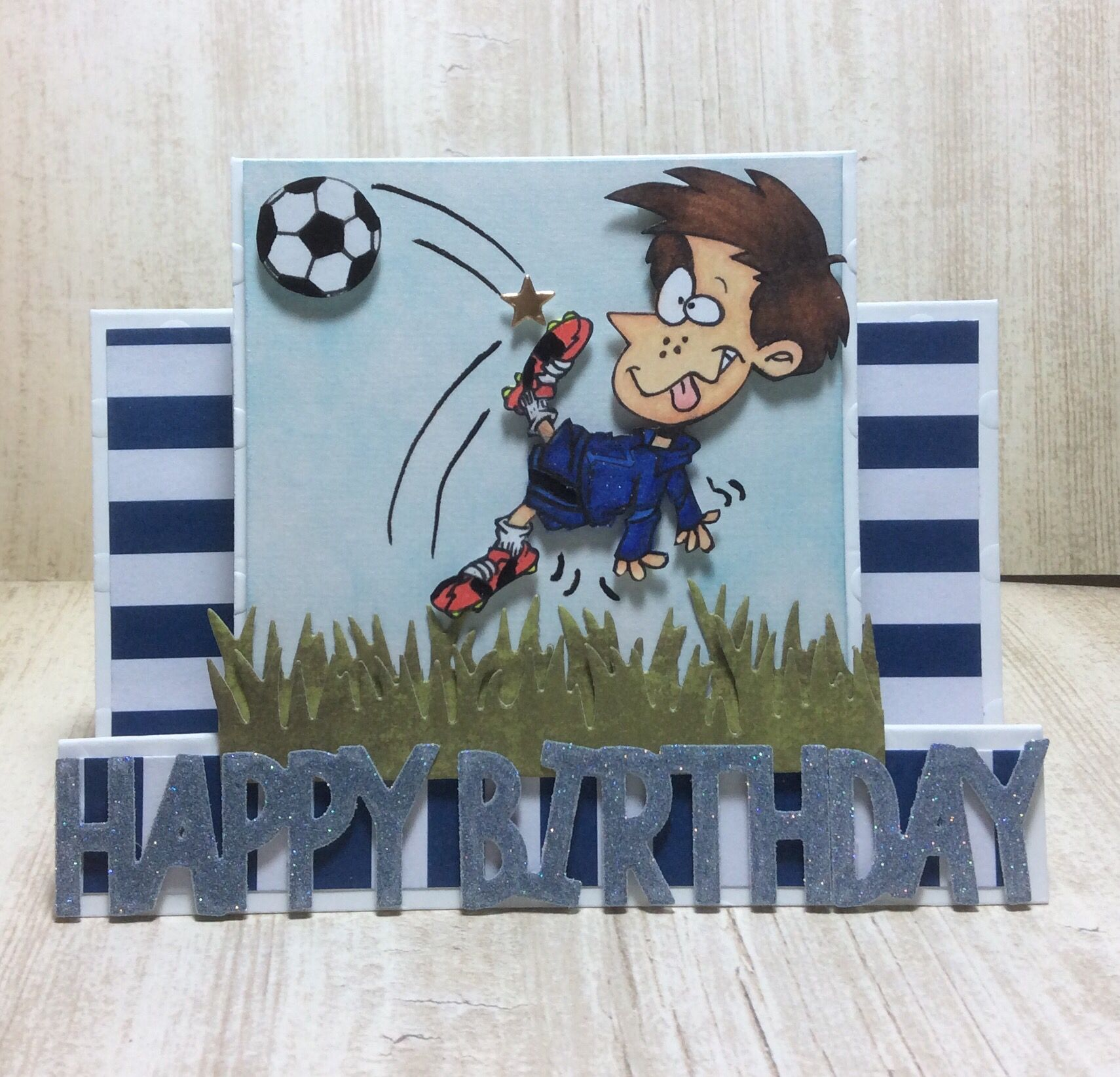 Soccer Goal Handmade Card Handmade Soccer Birthday Card Soccer