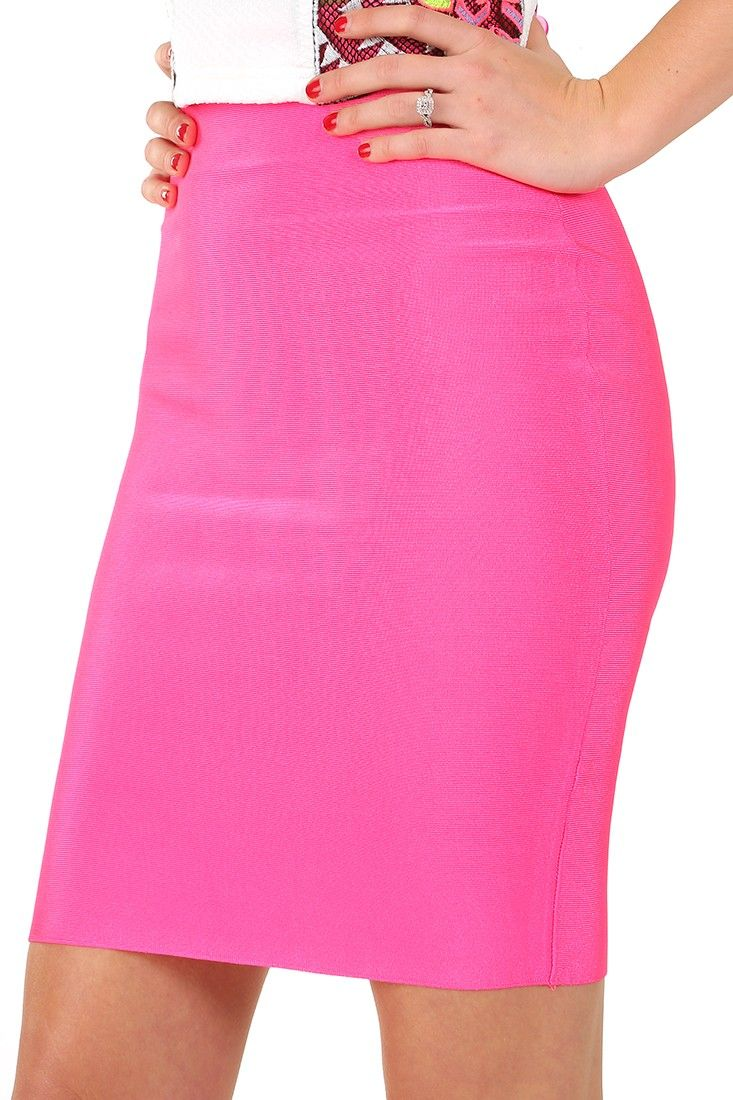 Happy As Can Be Pencil Skirt: Hot Pink #shophopes