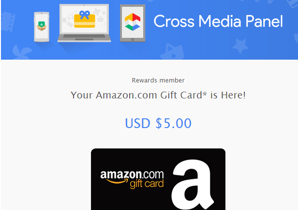 Instant $5 Amazon gift card from Cross Media Panel (previously ...