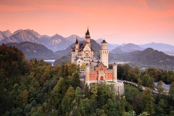 Schloss Neuschwanstein Krajina Fotobanka Naturephoto Cz