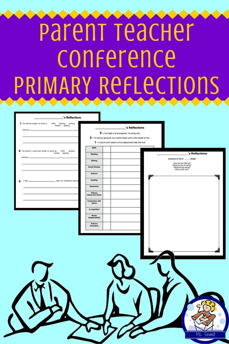 Parent teacher conference reflection packet for primary students want to hear more from students during your parent teacher conferences if you invite your students or just share their reflections this is a great packet altavistaventures Gallery