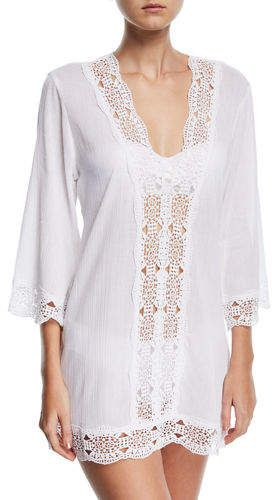 27a80c90cce La Blanca Embroidered-Inset Tunic Coverup in 2019 | Products ...