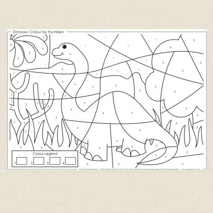 dinosaur colour by numbers cleverpatch dinosaurs unit dinosaur coloring color by numbers. Black Bedroom Furniture Sets. Home Design Ideas