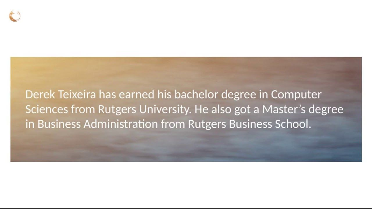 Derek Teixeira Bs In Computer Sciences From Rutgers University Computer Science Computer Science Degree Rutgers University