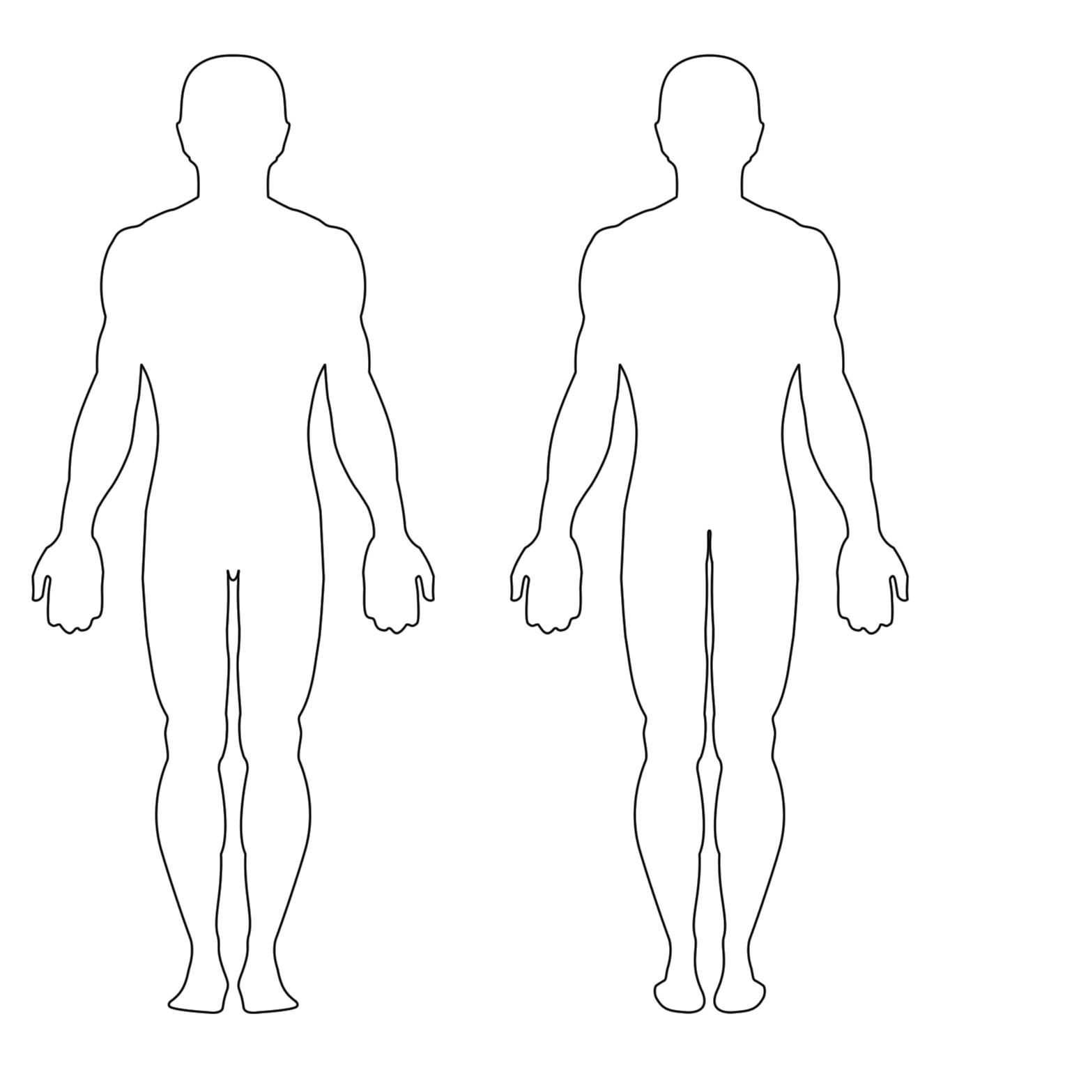 The Extraordinary Free Human Body Outline Printable