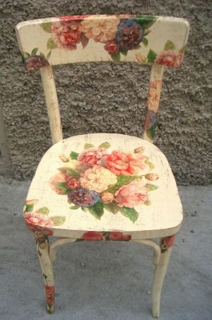Decorative painting furniture google search for Sedie decorate a decoupage