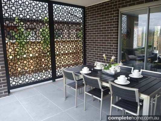 Good Privacy Screen Welded Frame With Water Jet Panels; Heavy Lattice .
