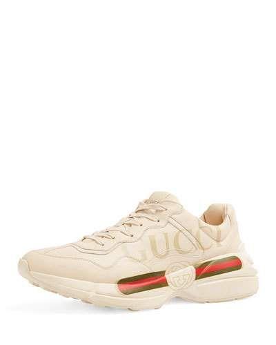 973cca1ad25 GUCCI GARA VINTAGE LOGO-PRINT TRAINER SNEAKER.  gucci  shoes ...