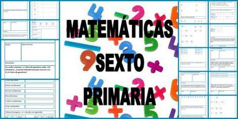 30 Fichas De Matemáticas Para Sexto De Primaria Fichas De Matematicas Matematicas Juegos Didacticos De Matematicas