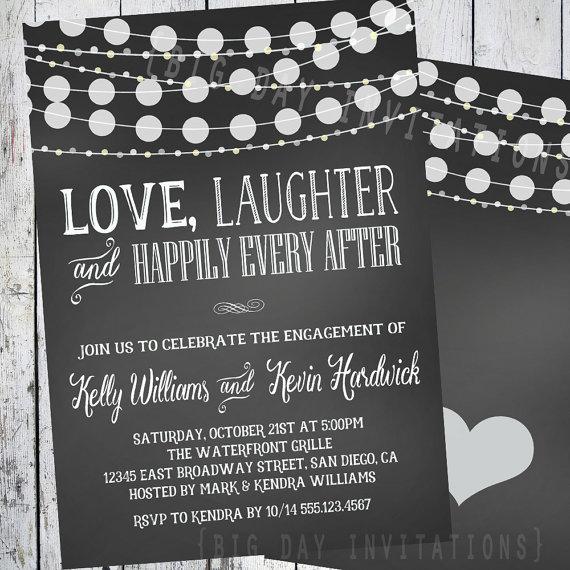 Chalkboard Engagement Invitation Engagement Party Invitation