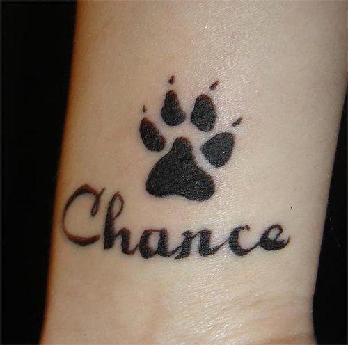 Chance Ndash Black Dog Paw Print Tattoo Design For Wrist Wrist Tattoos For Women Cute Tattoos On Wrist Small Tattoos For Guys