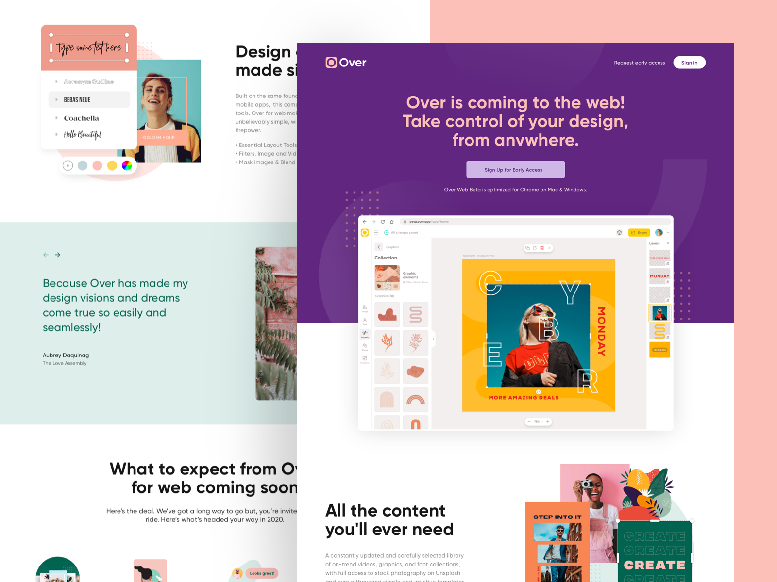 Over Web Beta In 2020 Web Inspiration Web Design Webs