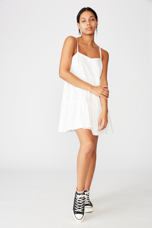 Woven Betty Tiered Mini Dress Mini Dress Dresses Fashion [ 2880 x 1920 Pixel ]