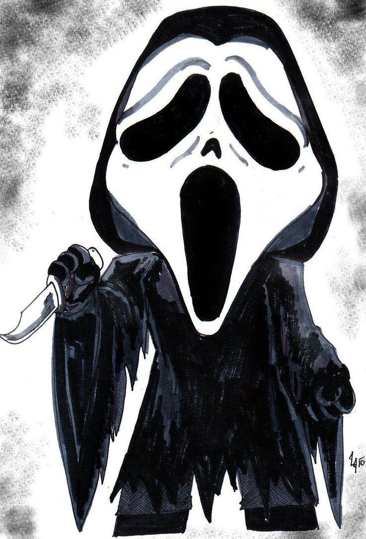 403 Forbidden Ghostface Chibi Horror Characters
