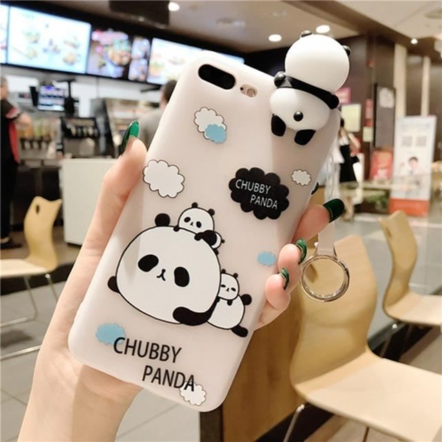 092e40682a KISSCASE 3D Cute Panda Cases For iphone 7 7 8 Plus 6s 6 Plus Case Lovely  Toy Panda Cover Silicon Transparent For iphone 7 8 Case