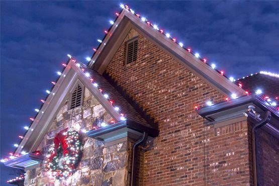 Hang Christmas lights across peaks and gutters like a pro! Helpful