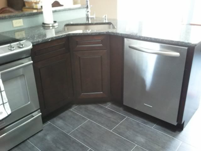 Kitchen Floor But In Slate Corner Sink Kitchen Corner Sink Kitchen Sink Design