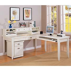 Kathy Ireland Home By Martin Tribeca Loft L Shaped Writing Desk With Optional Hutch And File Cabinet