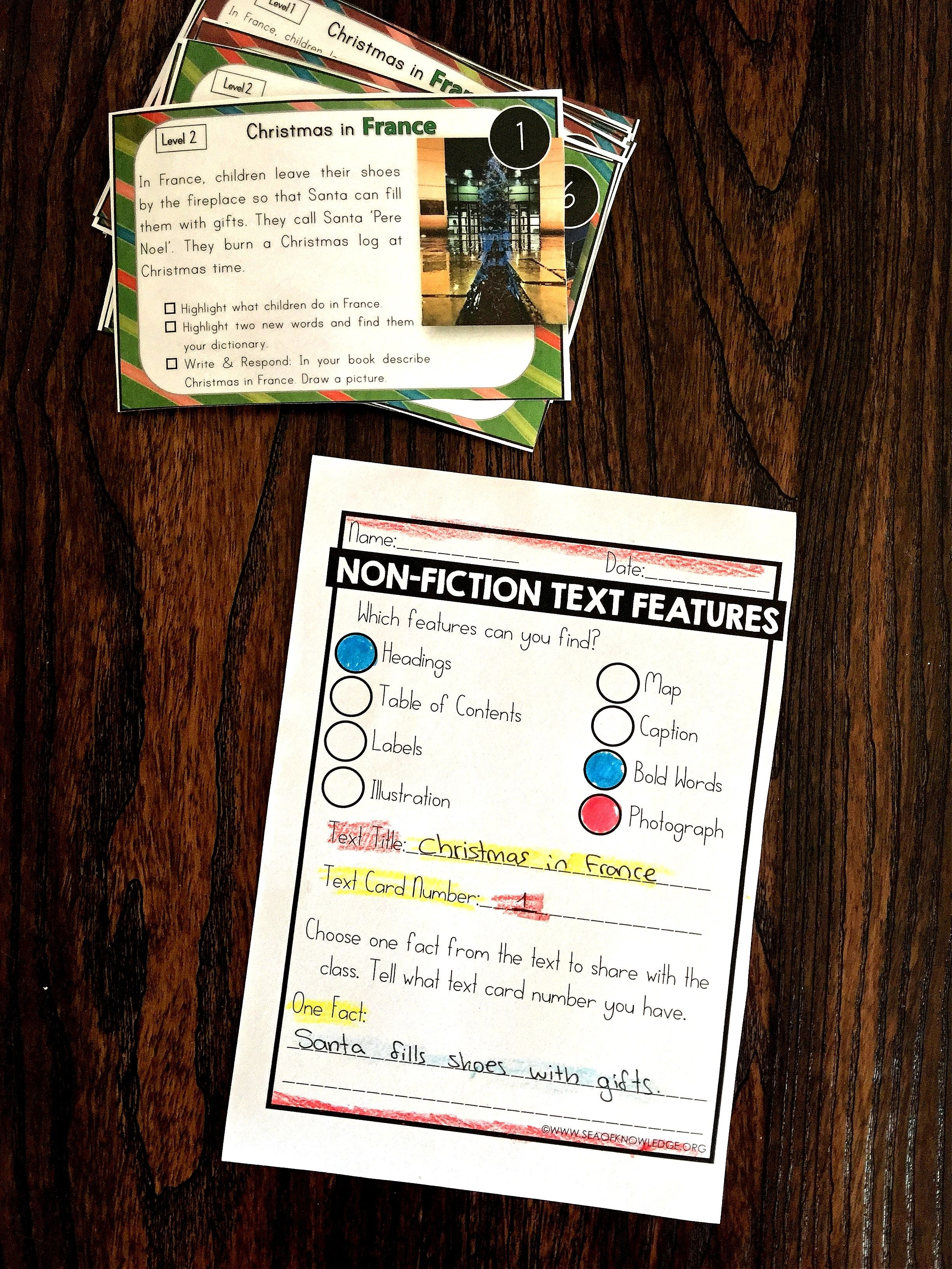 Nonfiction Text Features Worksheets Free Sea Of Knowledge Nonfiction Text Features Text Features Worksheet Nonfiction Texts