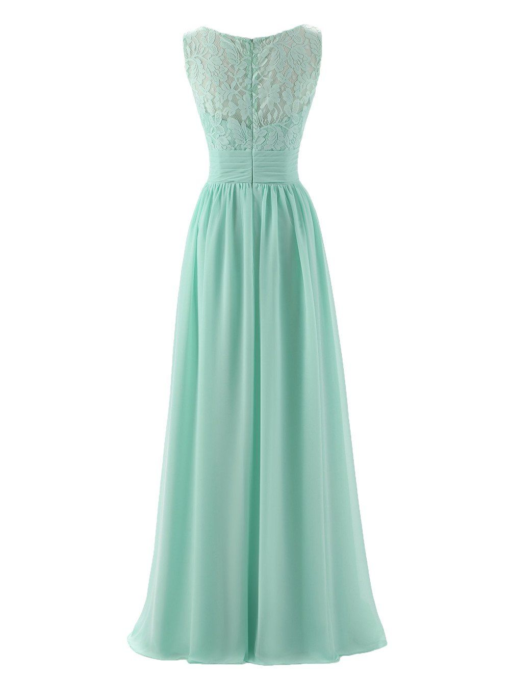 Aline vneck chiffon long empire bridesmaid dresses simple prom