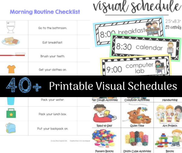 photo about Printable Visual Schedule Pictures named 33 Printable Visible/Visualize Schedules for Property/Every day