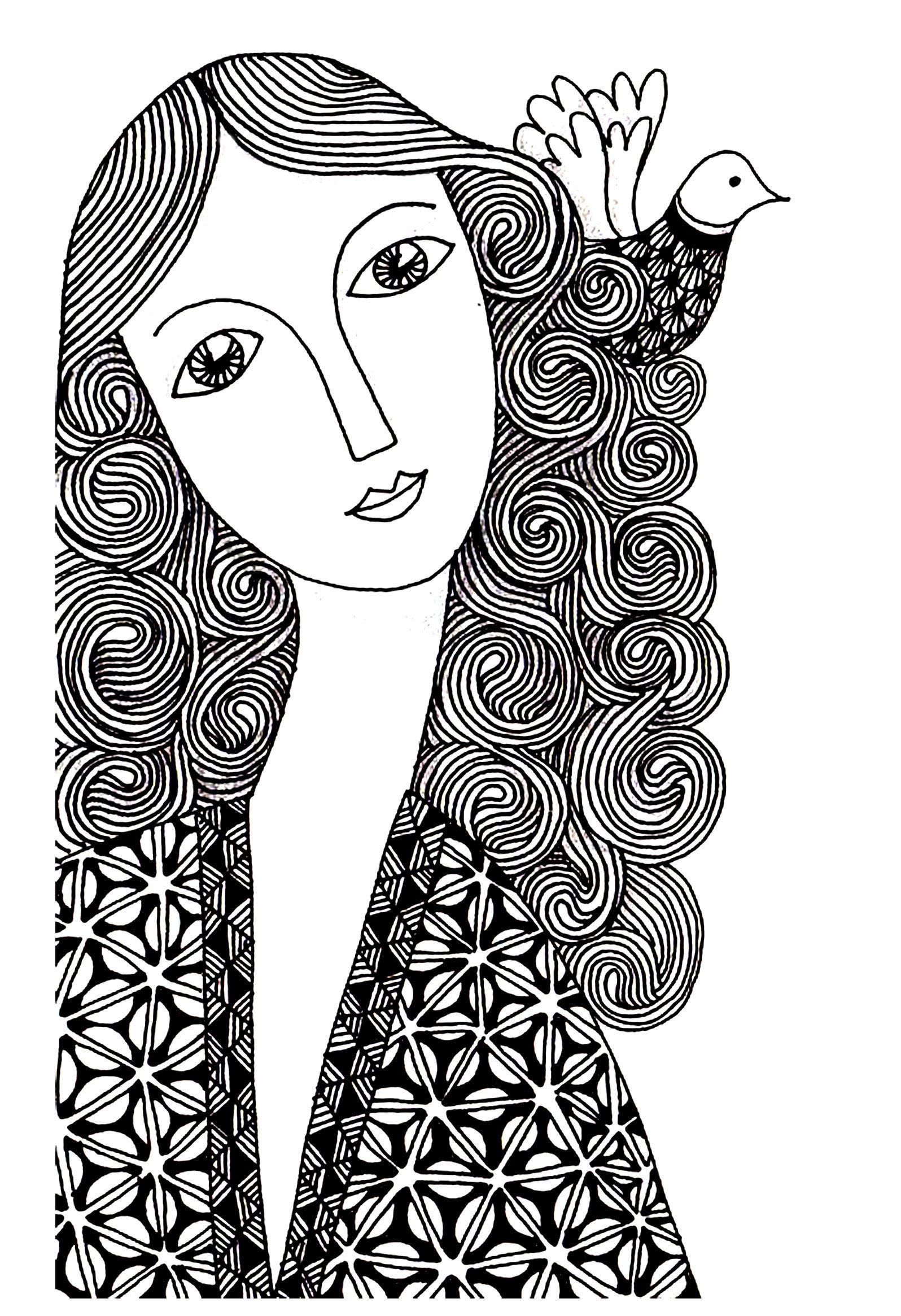 Woman simple From the gallery : Unclassifiable   coloring pages ...