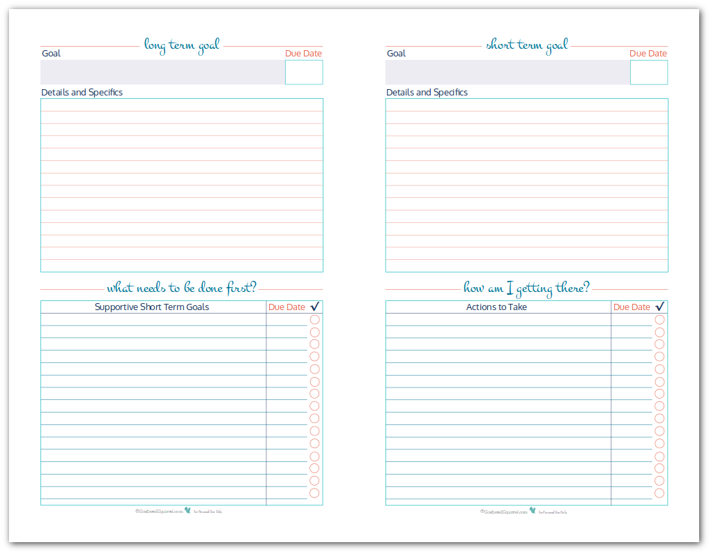Printables Short And Long Term Goals Worksheet 1000 ideas about short term goals on pinterest long half size goal setting worksheet printables to help you set plan and track your long