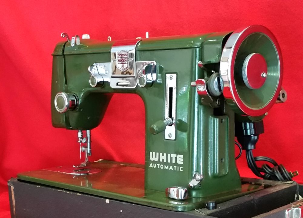 Awesome Germanbuilt White 40 Vintage Sewing Machine Sewing Interesting Sewing Machines Of Tulsa