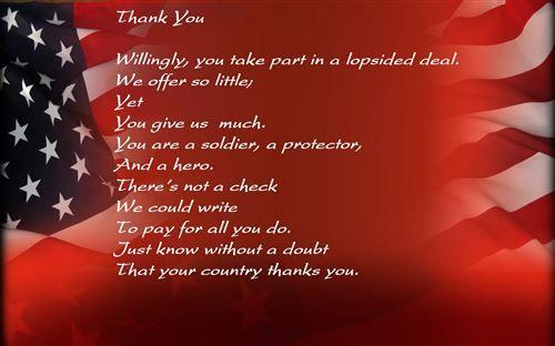 Free Veterans Day Thank You Poem For Kids 2019   Veterans ...