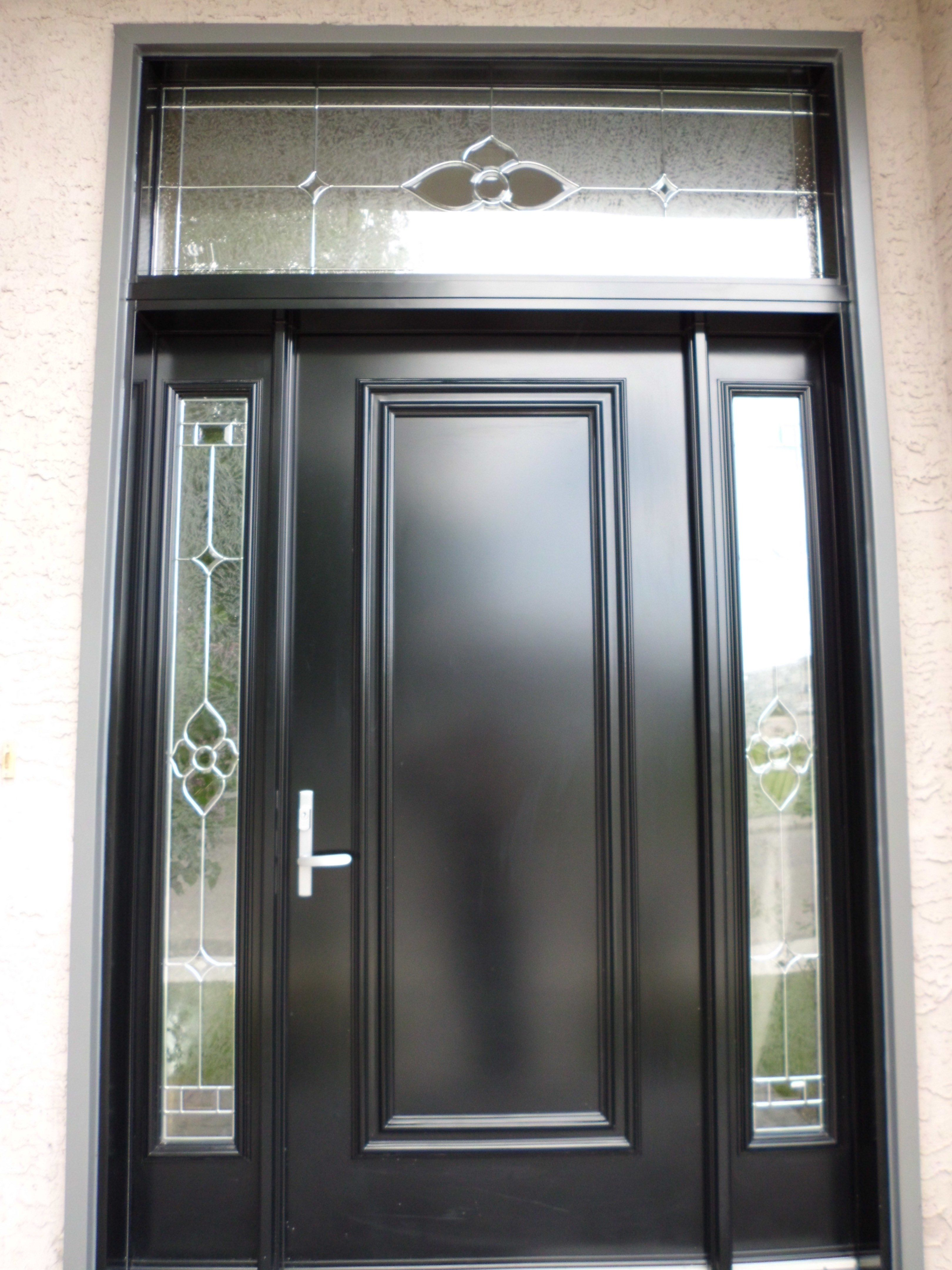 Doors Design: Star Glass Insert By Trimlite, Black Coloured Single Entry