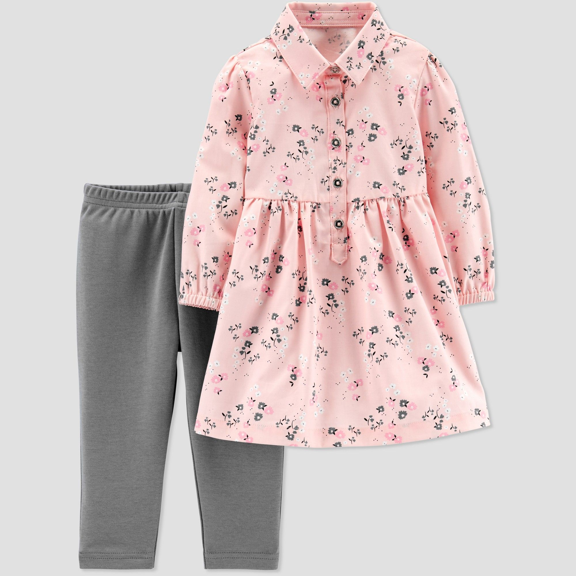 fa9ca4ce857a Baby Girls  2pc Floral Dress Set - Just One You made by carter s ...