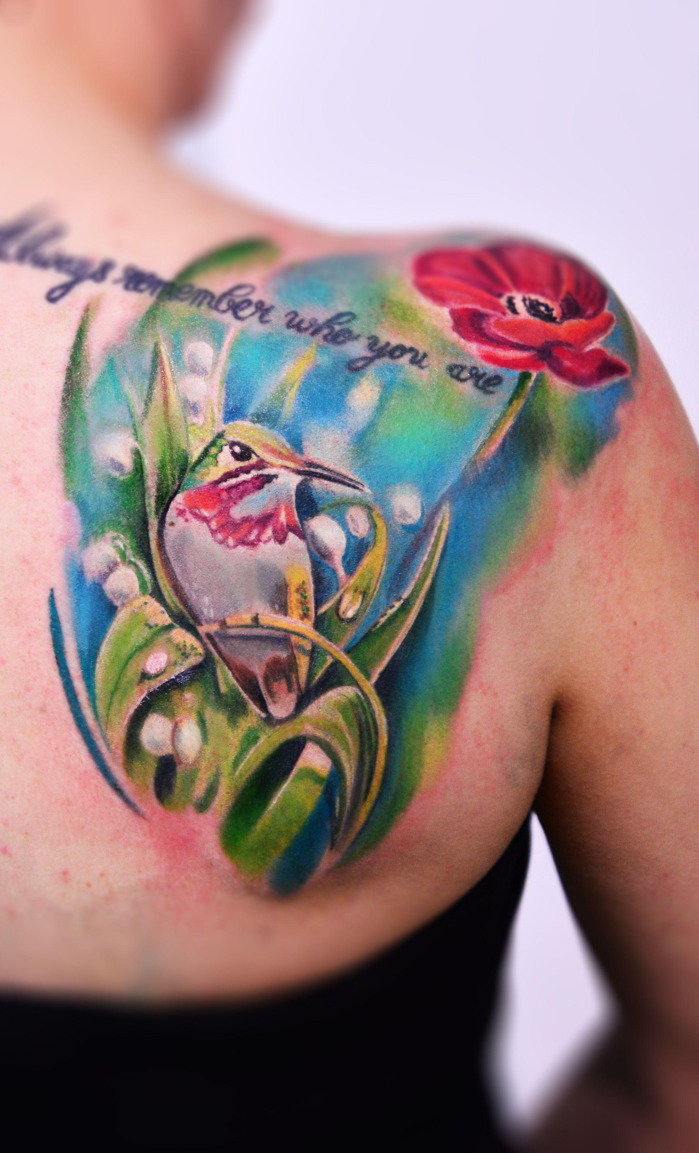 Colibri Tattoo Vogel Tattoo Tattoo Watercolor Tattoo Watercolor