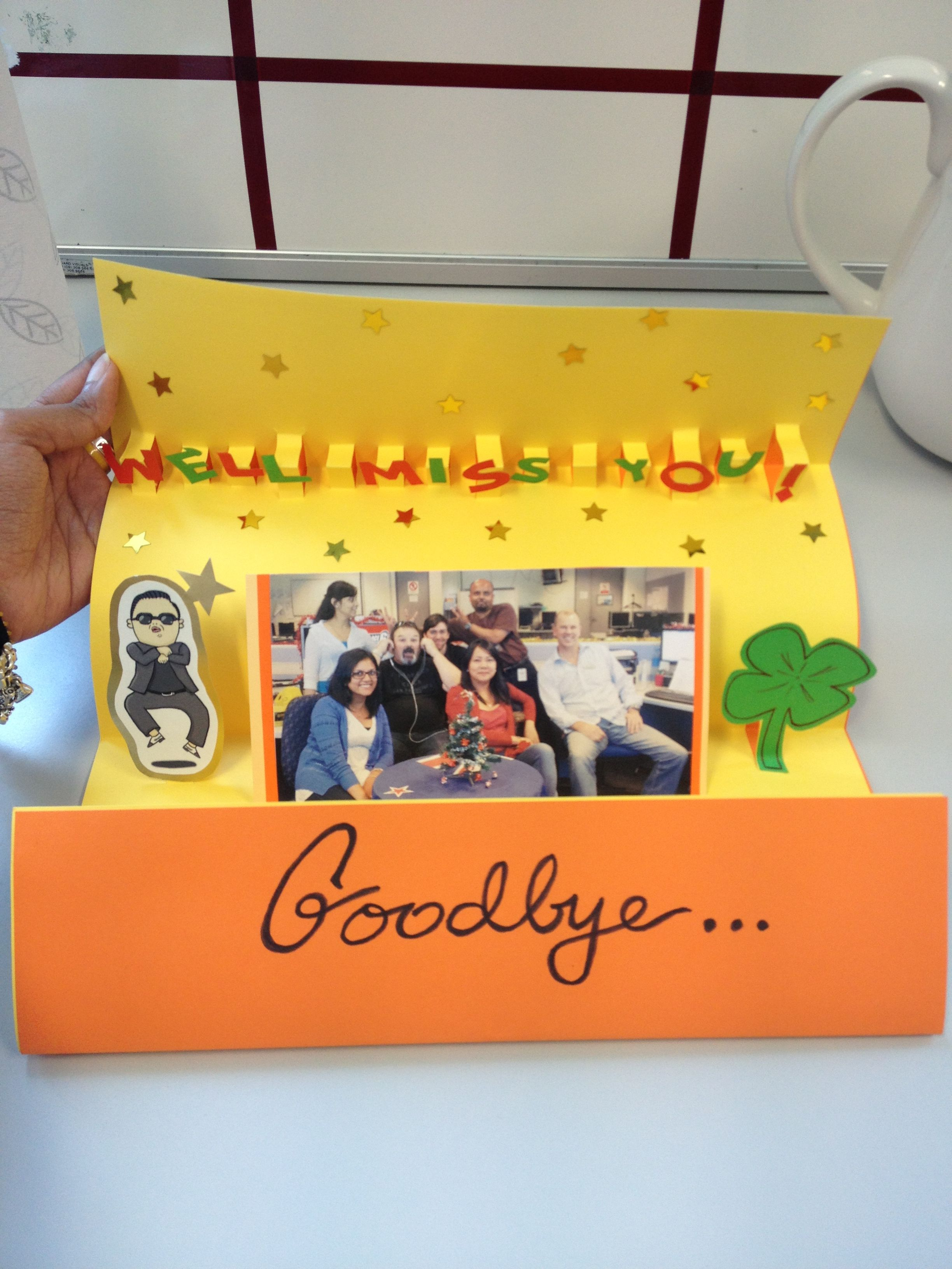 Farewell Pop-up card!  Diy cards, Diy projects to try, Cards