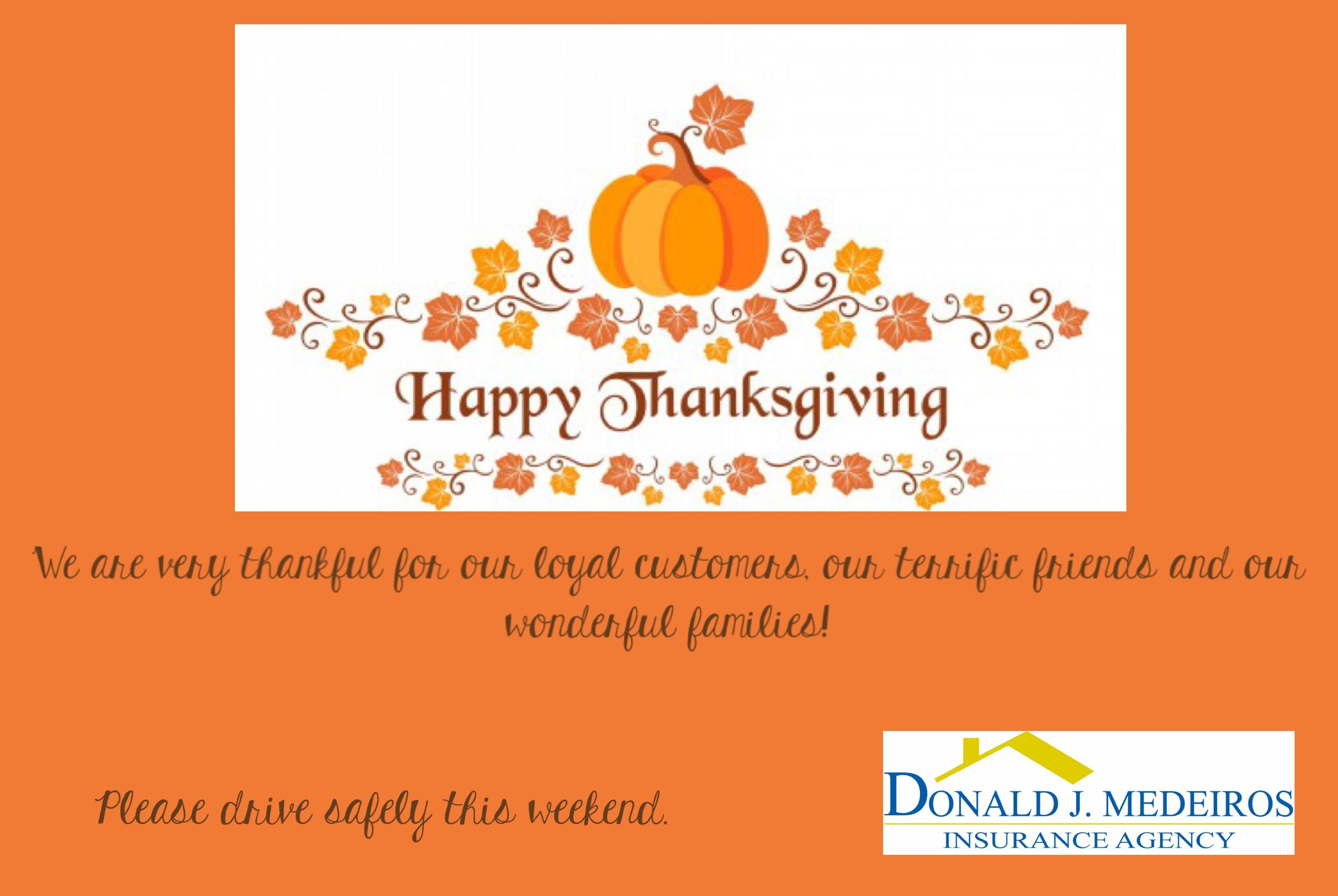 We are very thankful for you! Happy Thanksgiving from our