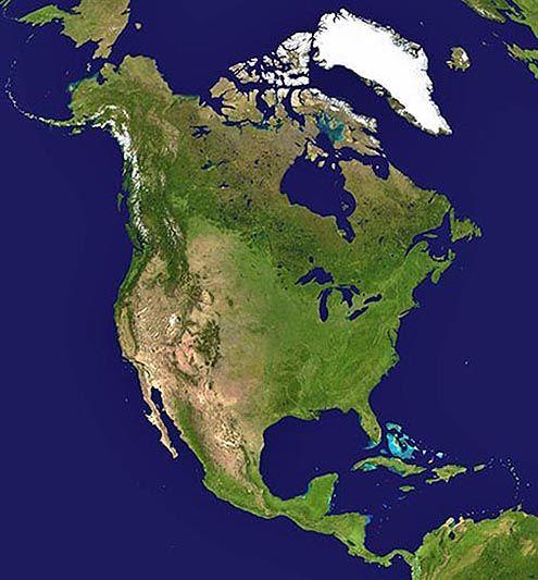 North America Satellite View World Maps Etc Continents