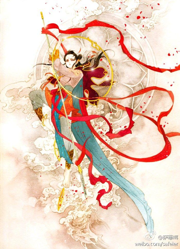 Chinese Fantasy Art Nezha Character Art Art Chinese Drawings