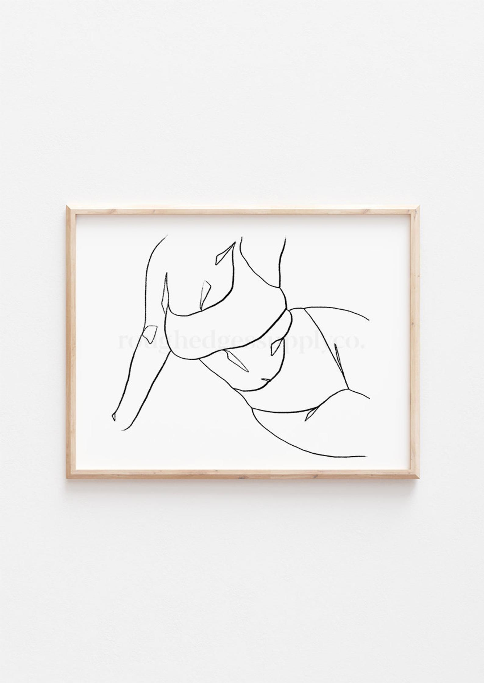 Body Positive Line Art, Female Figure Art Print, Minimalist Wall Art, Printable Wall Art, Digital Download, Digital Art Print, Line Drawing