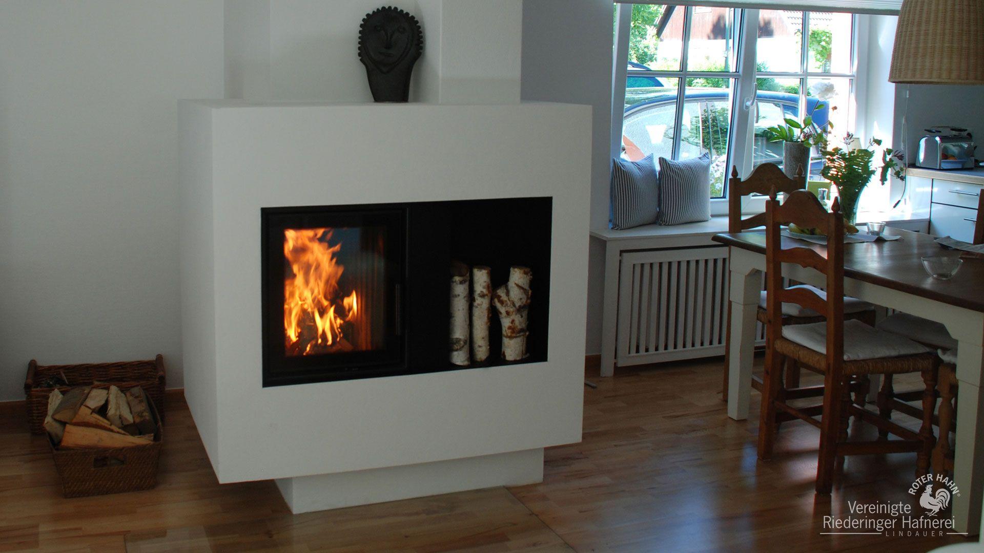 moderne kachel fen wasserf hrend gro e scheiben ver riederinger hafnerei wohnen. Black Bedroom Furniture Sets. Home Design Ideas