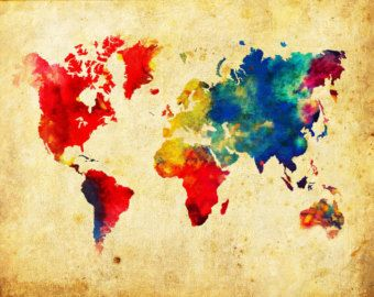 World map abstract print print poster and color contacts gumiabroncs Image collections