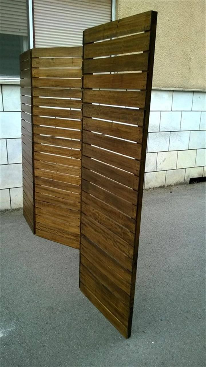 Upcycled pallet room divider roomdividerideasopenconcept room