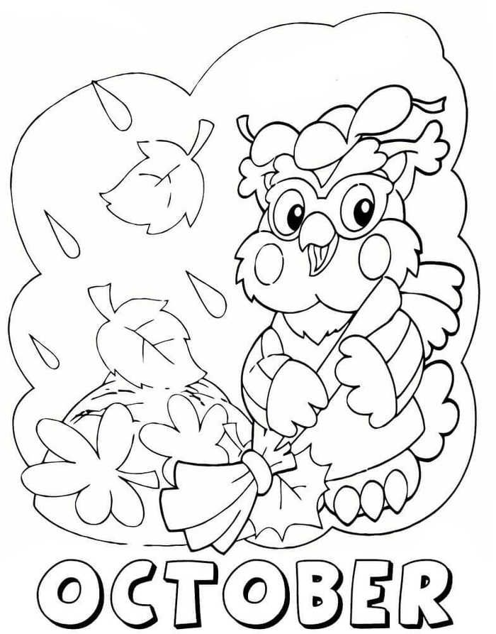Printable October Coloring Pages for Kids - Free Coloring ...