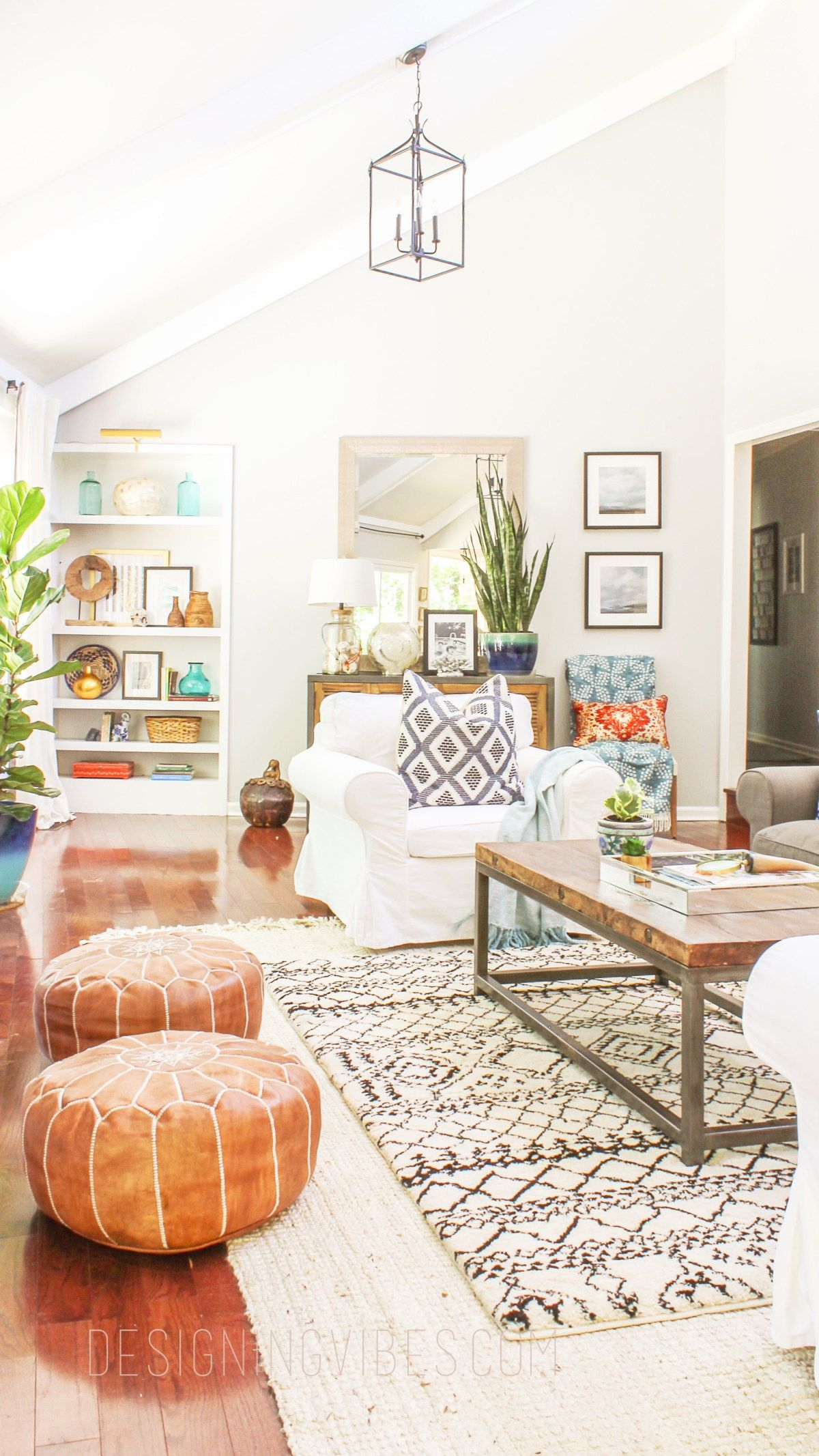 Living Room Pouf Modern Table Design How To Buy Leather Moroccan Poufs On The Cheap Boho Get Real For Decor