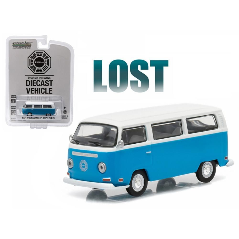 1971 Volkswagen Type 2 Bus (T2B) \Lost\ TV Series (2004-2010) 1-64 Diecast Model by Greenlight