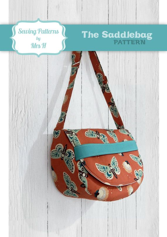The Saddlebag Sewing Pattern by Mrs H - Ideal for Beginner bag ...