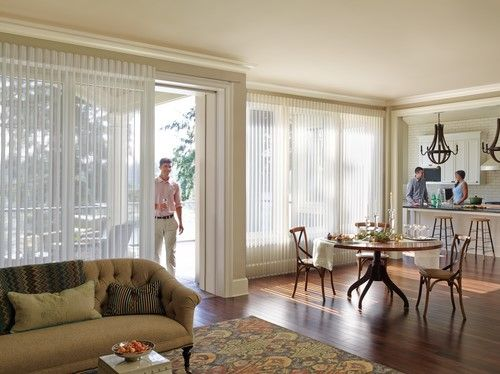 What a difference these beautiful Luminette® Privacy Sheers make!