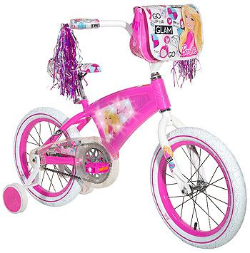 Girls' 16 inch Dynacraft Barbie Bicycle with LED Lights