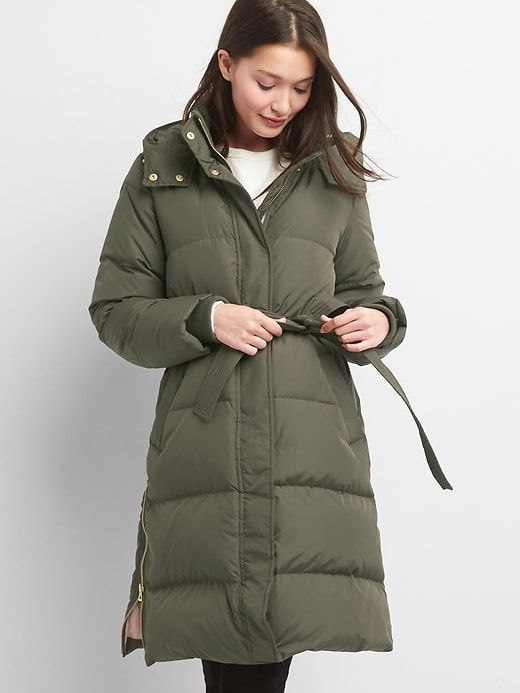 a5a882327fcc Gap Womens Long Down Puffer Jacket Black Moss | Products | Jackets ...
