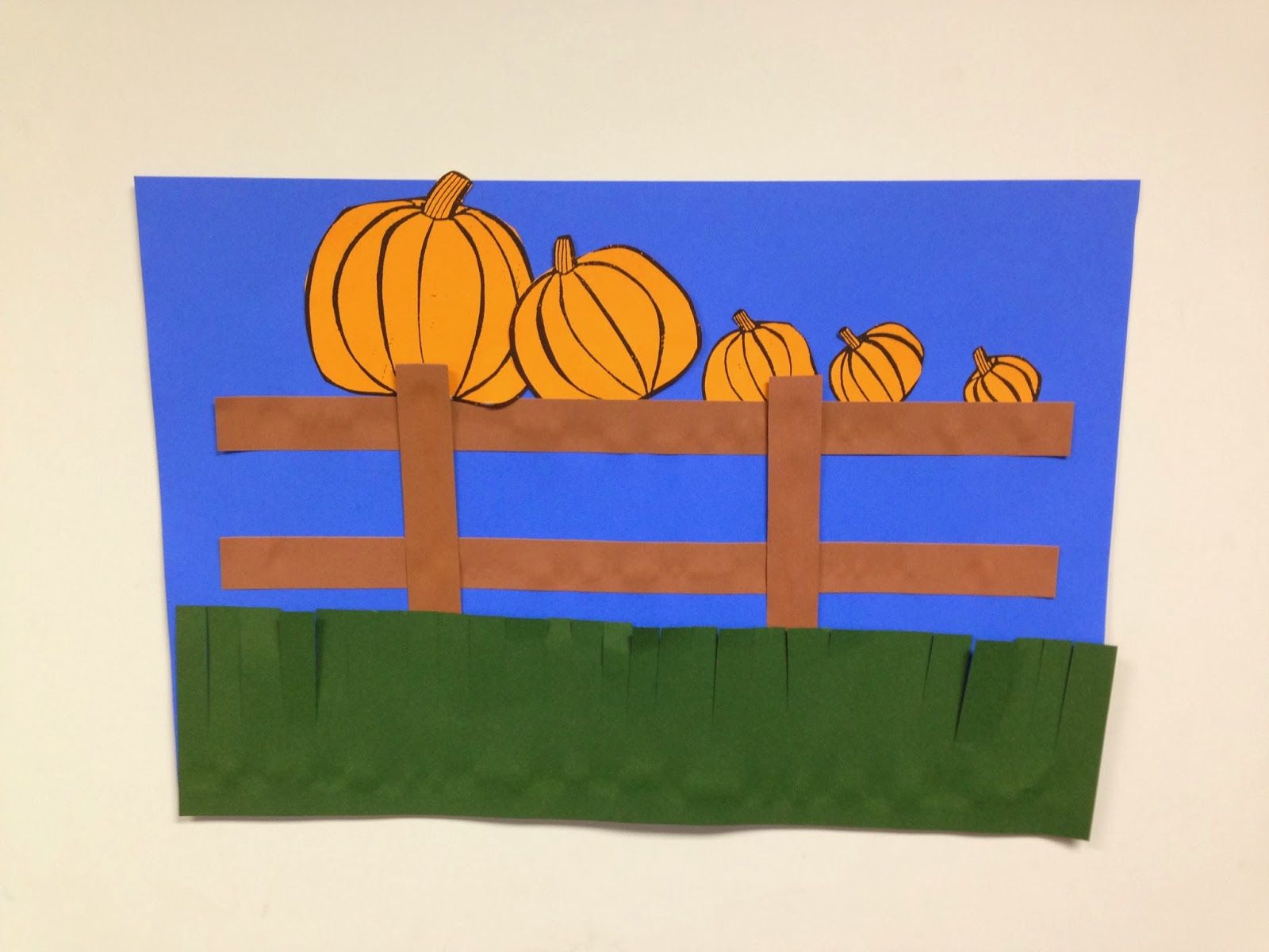 5 Little Pumpkins Sitting On A Gate Craft