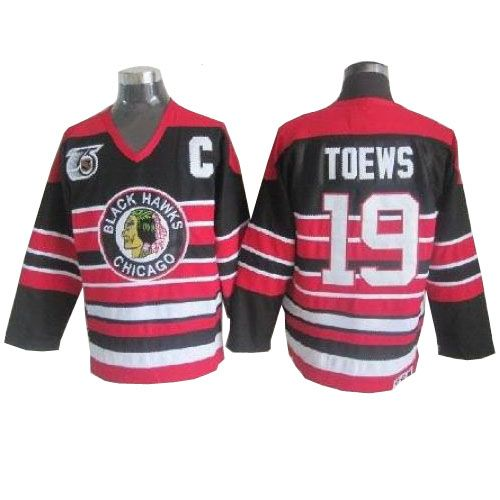 Jonathan Toews Jersey - Buy 100% official CCM Jonathan Toews Men s  Authentic 75TH Red Black Jersey Throwback NHL Chicago Blackhawks  19 Free  Shipping. 1ef383303