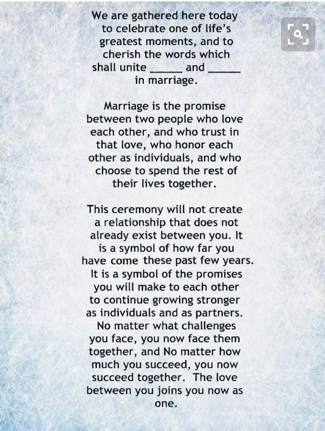 Works With Some Modifications Wedding Ceremony Readings Wedding Officiant Script Wedding Ceremony Traditions